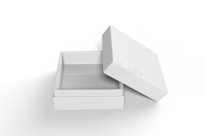 Lyxig styv halsask för vitt mellanrum med inre lura för att brännmärka upp presentation och åtlöje, illustration 3d stock illustrationer