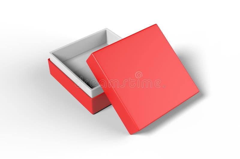 Lyxig styv halsask för vitt mellanrum med inre lura för att brännmärka upp presentation och åtlöje, illustration 3d vektor illustrationer