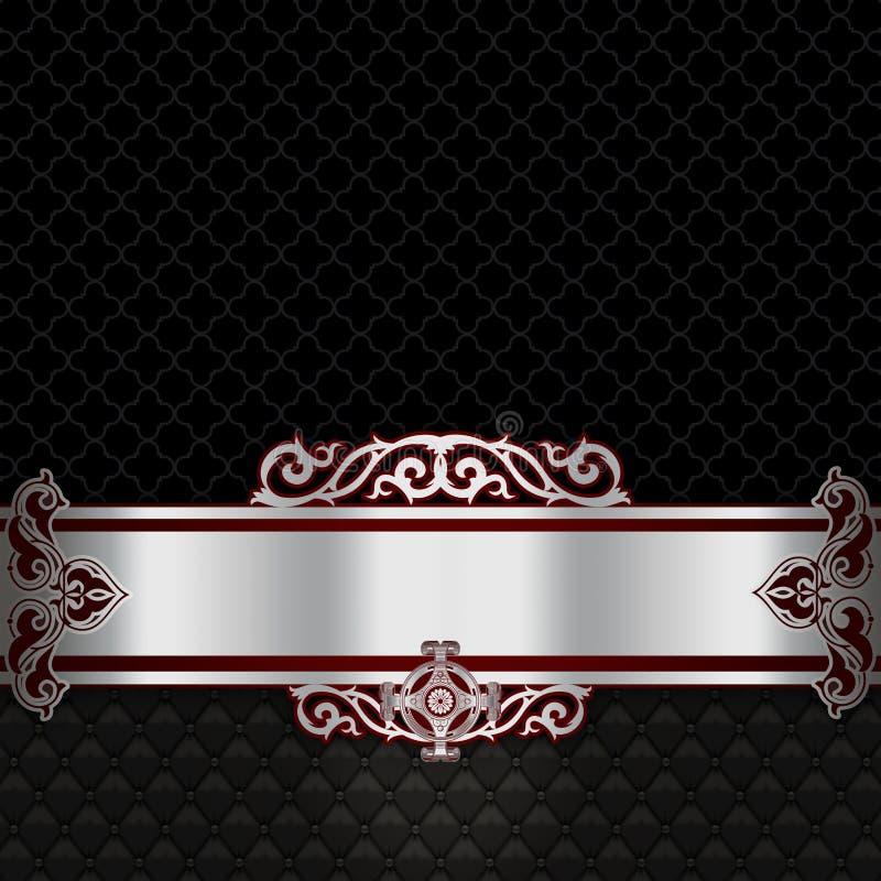 Lyxig tappningbakgrund med den dekorativa gränsen stock illustrationer