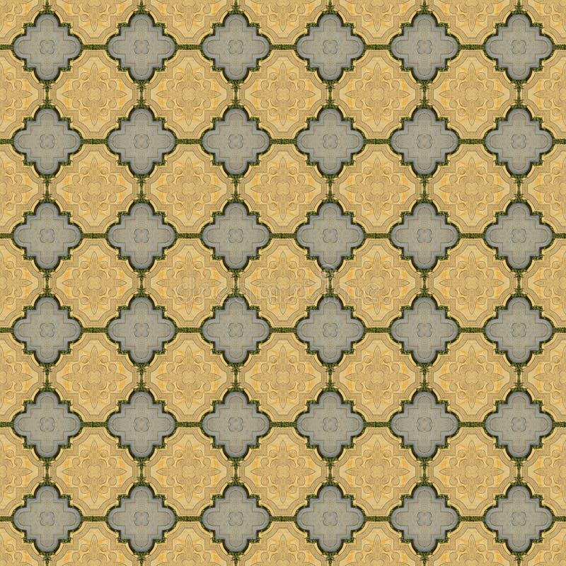 Lyxig texturerad bakgrund för stenläggningsten seamless stock illustrationer