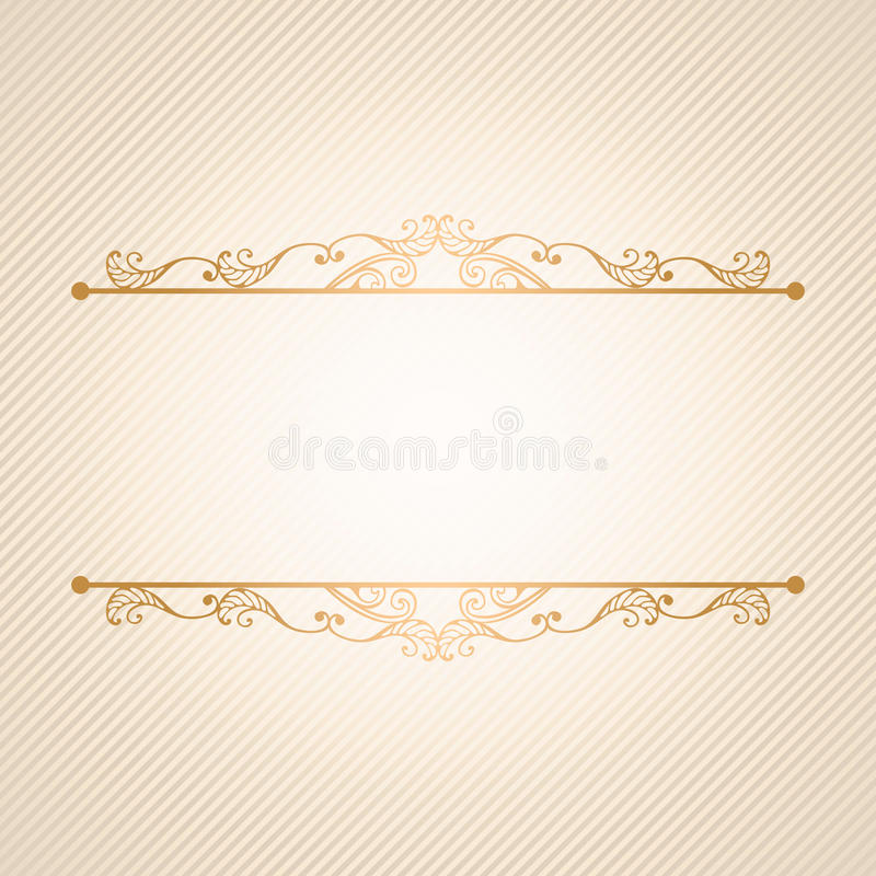 Lyxig vektorbakgrund för tappning Guld- dekorerade gränser på diagonal bandmodell vektor illustrationer