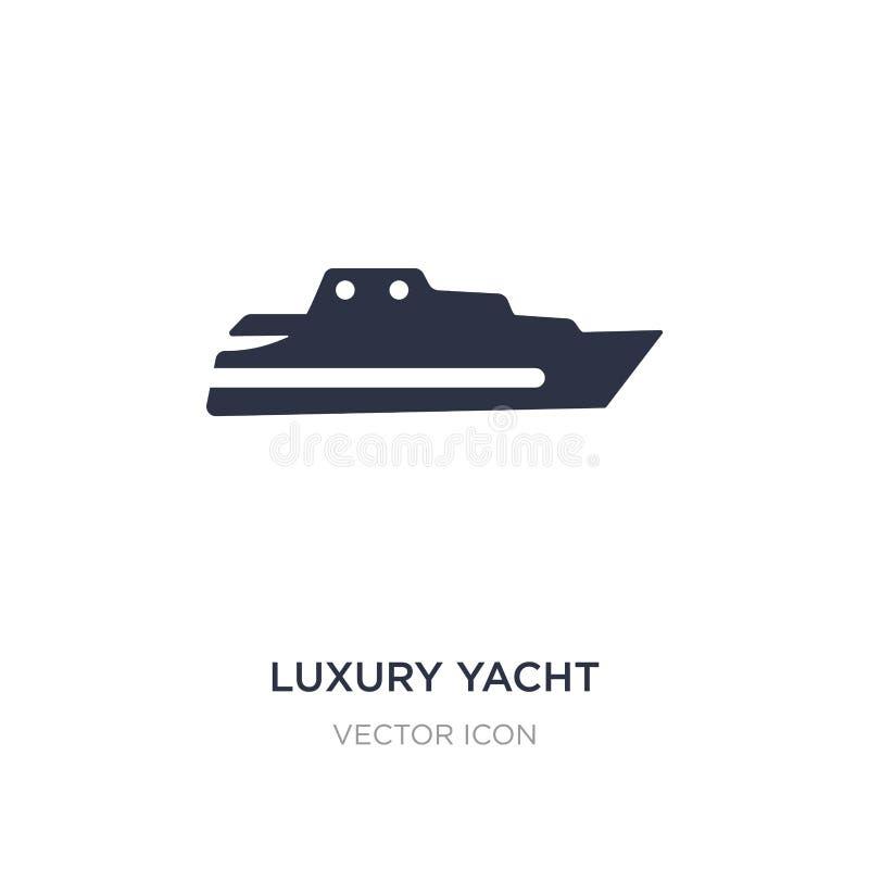 lyxig yachtsymbol på vit bakgrund Enkel beståndsdelillustration från transportbegrepp vektor illustrationer