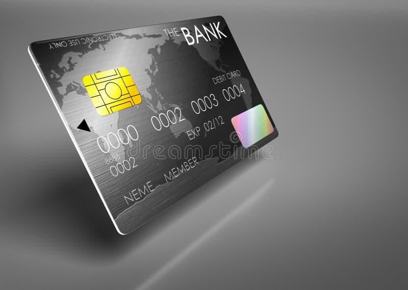Lyxiga debiteringkort stock illustrationer