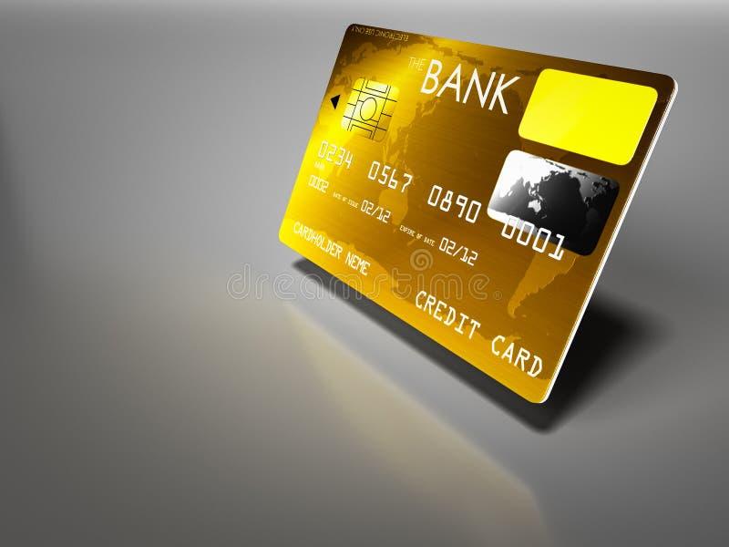 Lyxiga kreditkortar stock illustrationer