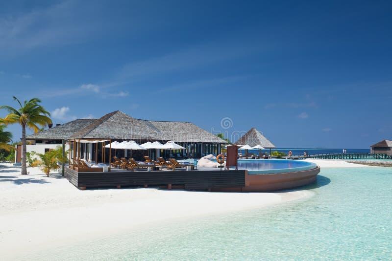 lyxiga maldives arkivfoton