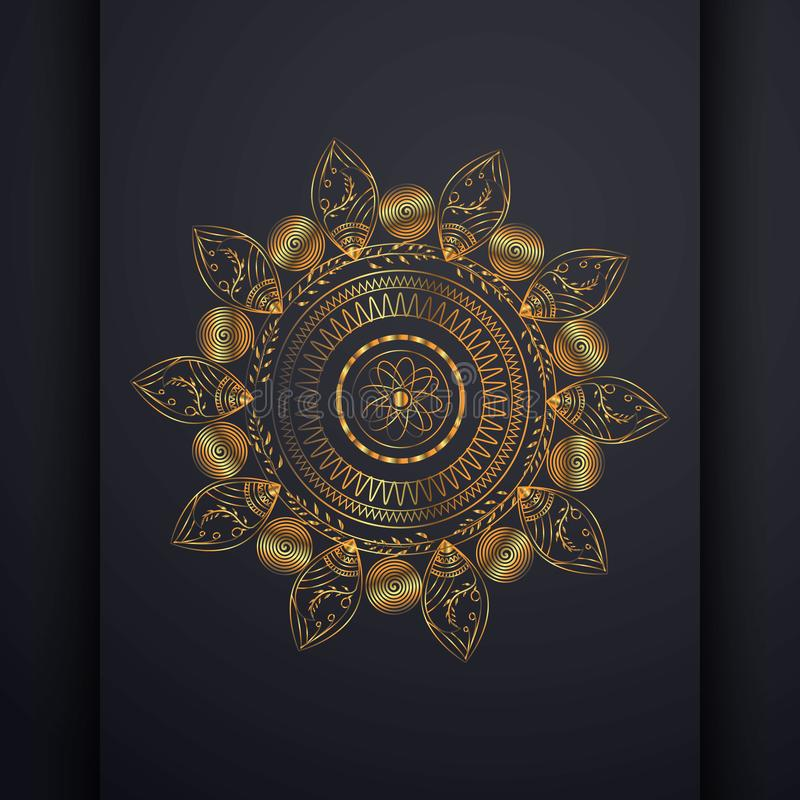 Lyxiga Mandala Flower Pattern Illustration vektor illustrationer