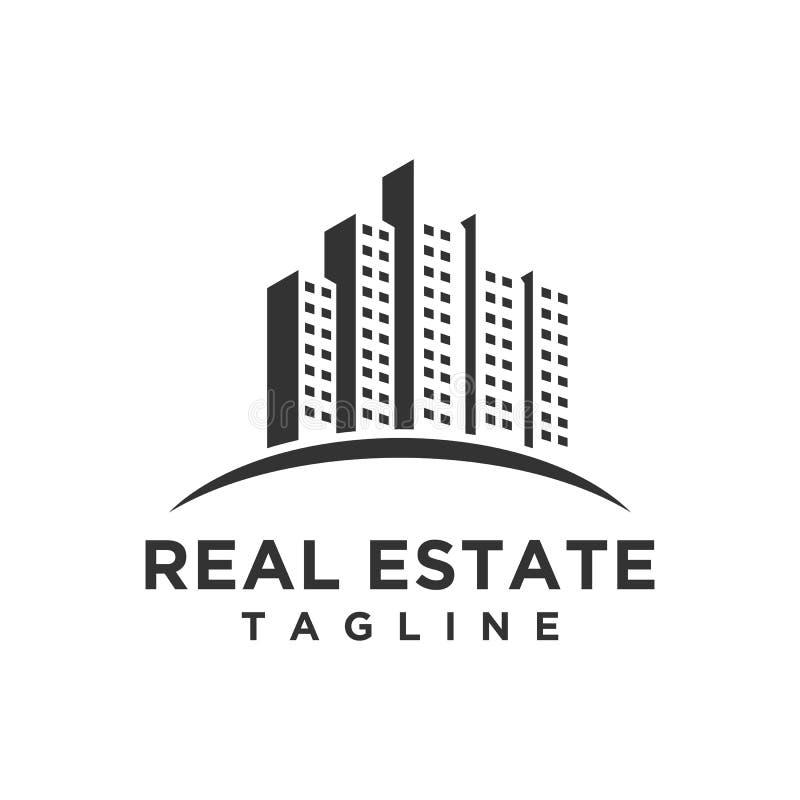 Lyxiga Real Estate Logo Design royaltyfri illustrationer