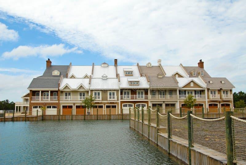 lyxiga townhouses arkivfoto
