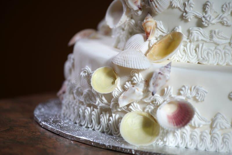 lyxigt bröllop för cake royaltyfri foto