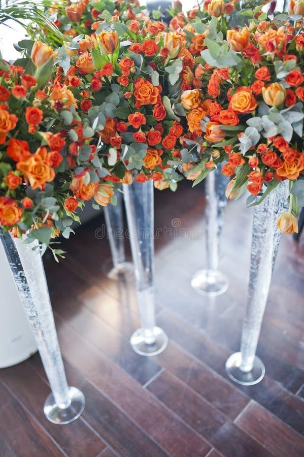 lyxigt bröllop för mottagandeinställningstabell royaltyfri bild