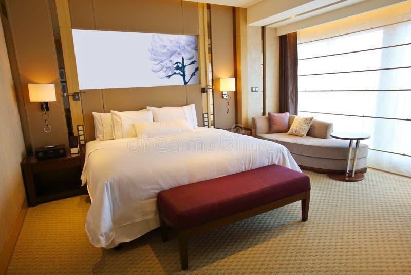 lyxigt hotellrum arkivfoton