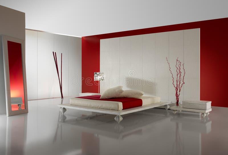 lyxigt minimalistic för sovrum royaltyfria foton