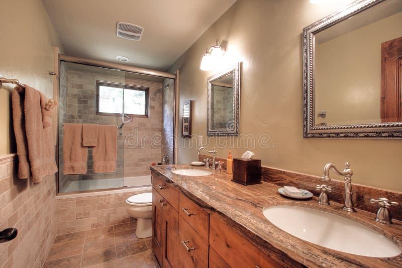 lyxigt modernt för badrum royaltyfri foto