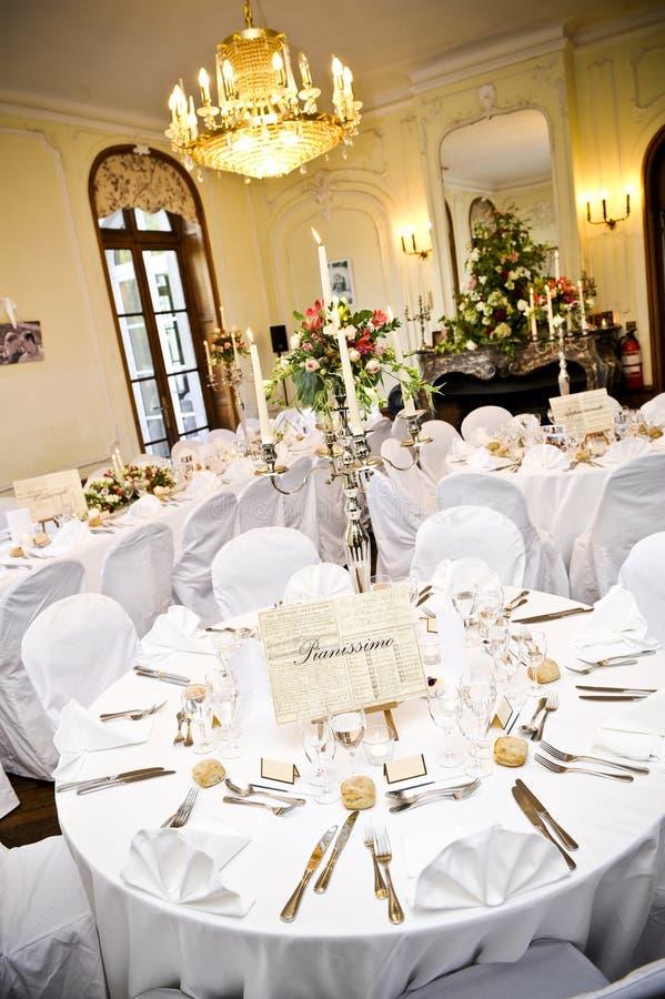 lyxigt mottagandebröllop royaltyfria foton