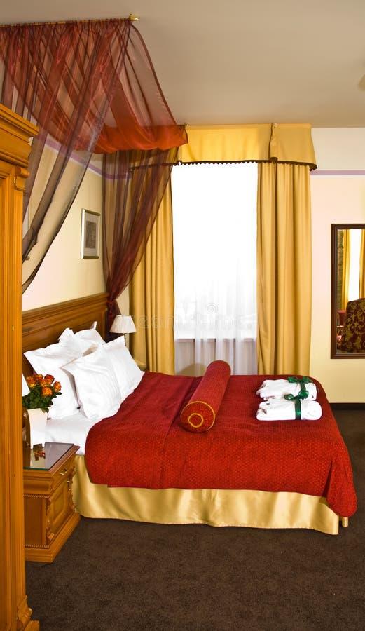 lyxigt sovrumhotell royaltyfri bild