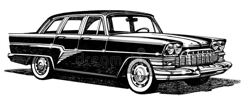 lyxigt stilfullt stads- för bil stock illustrationer