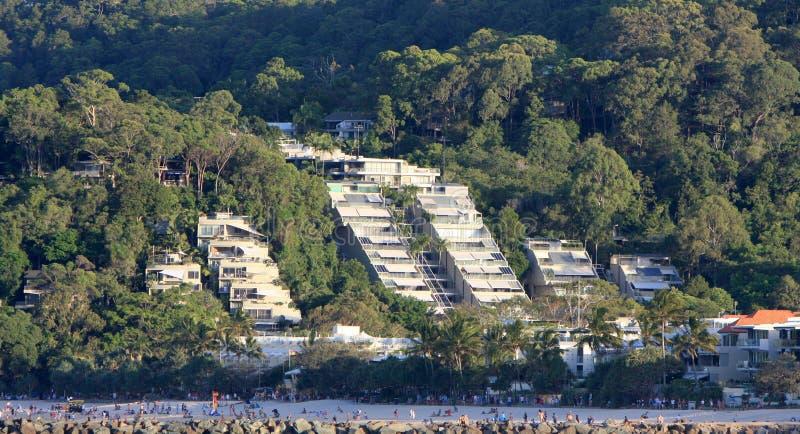 Lyxigt strandboende på Noosa arkivfoton