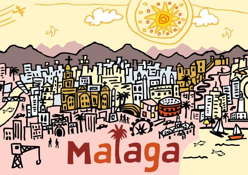 Màlaga lizenzfreie abbildung