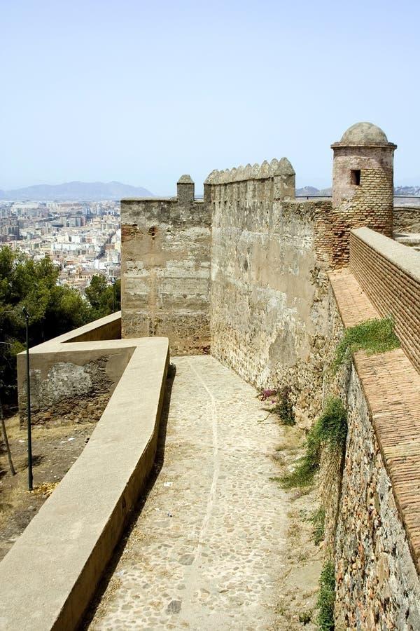 Màlaga-Festung stockbilder