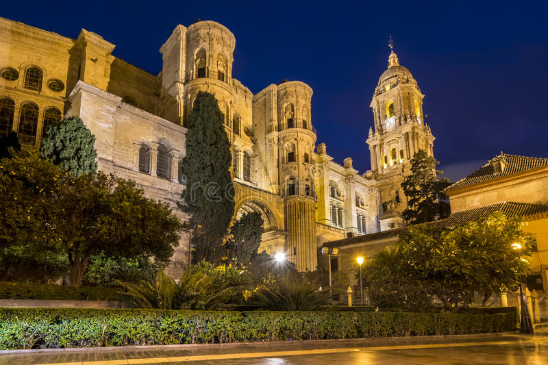 Màlaga-Kathedrale in Andalusien, Süd-Spanien stockfotografie