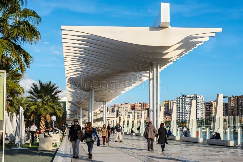 Màlaga Marina Promenade in Andalusien, Spanien stockfotografie