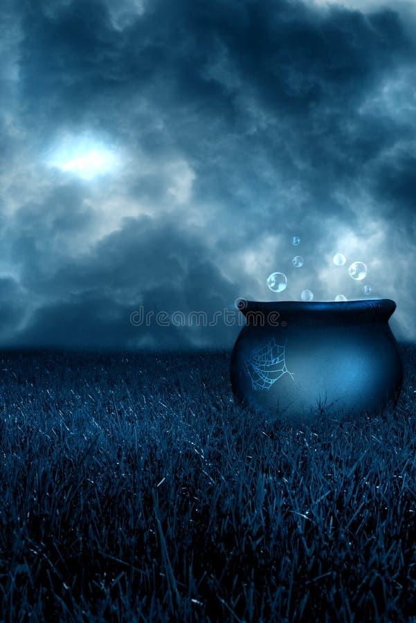 Mágica azul ilustração stock