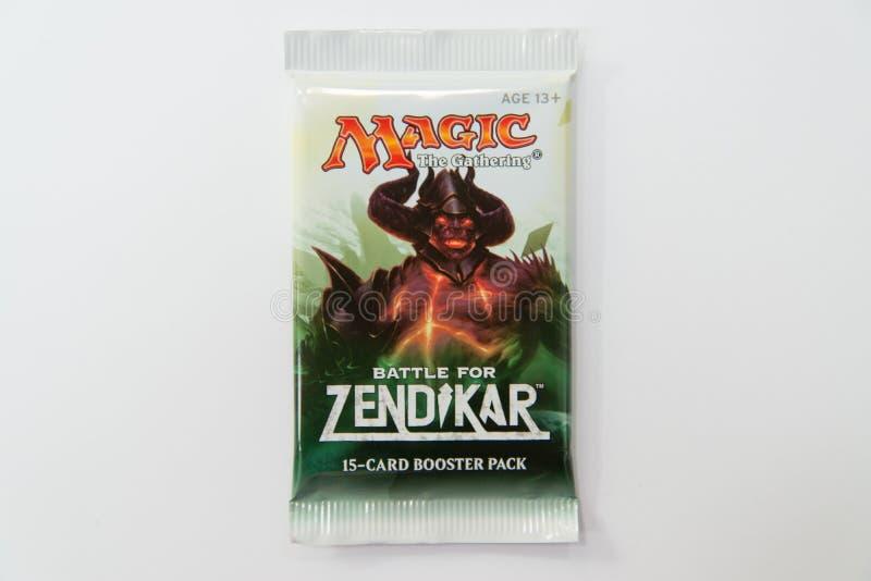 Mágica a batalha de recolhimento para o bloco do impulsionador de Zendikar fotos de stock