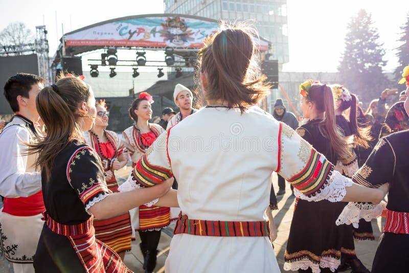 Mágica da música e da dança do folclore fotos de stock