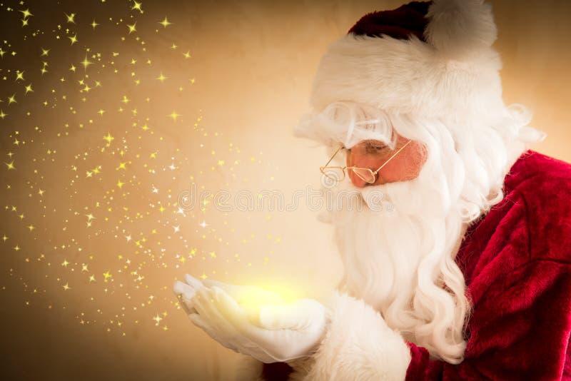 Mágica de Santa Claus foto de stock royalty free