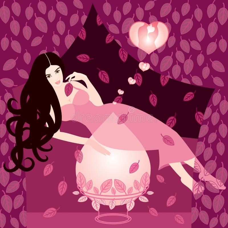 Mágica do amor ilustração do vetor