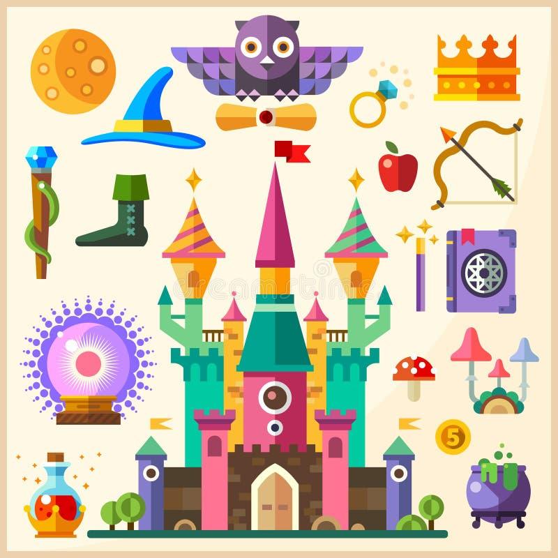 Mágica e conto de fadas ilustração royalty free