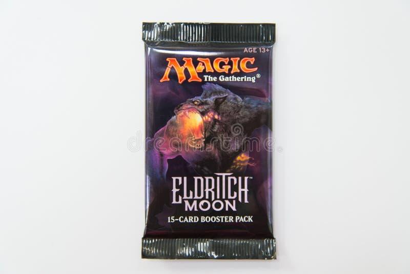 Mágica o bloco Eldritch do impulsionador da lua do recolhimento foto de stock