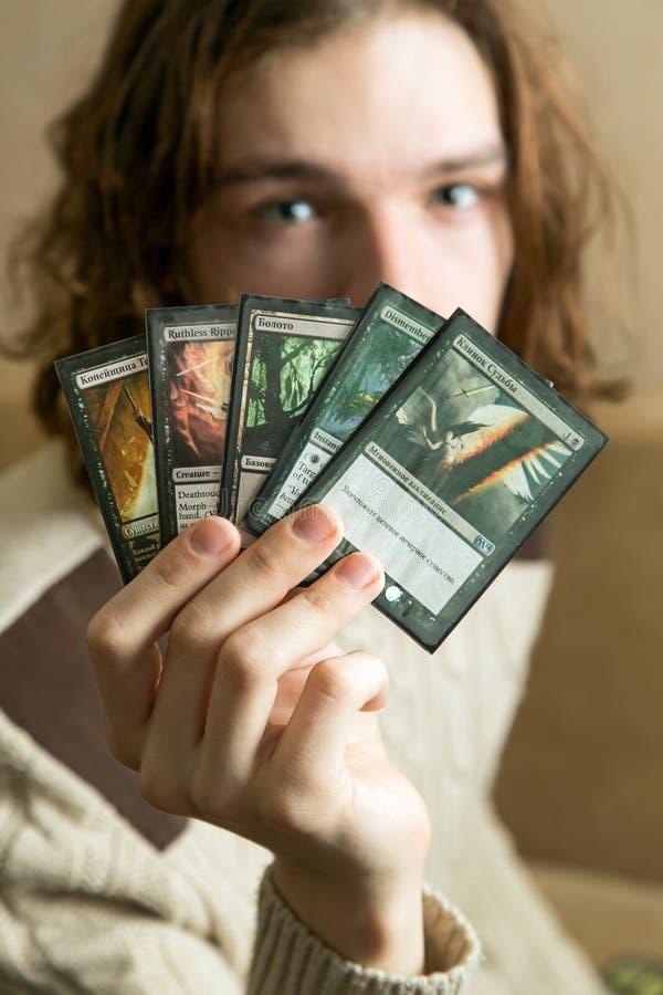 Mágica: O jogo de recolhimento imagem de stock