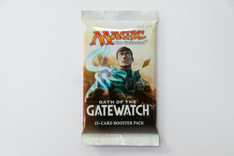 Mágica o juramento de recolhimento do bloco do impulsionador de Gatewatch fotos de stock royalty free