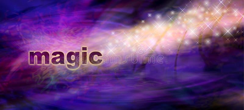 A mágica Sparkles bandeira do Web site ilustração do vetor