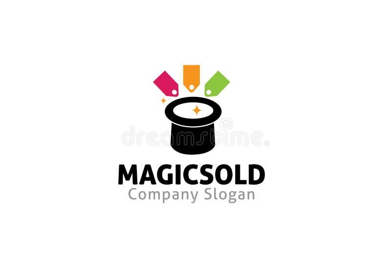 A mágica vendeu Logo Symbol Design Illustration ilustração stock