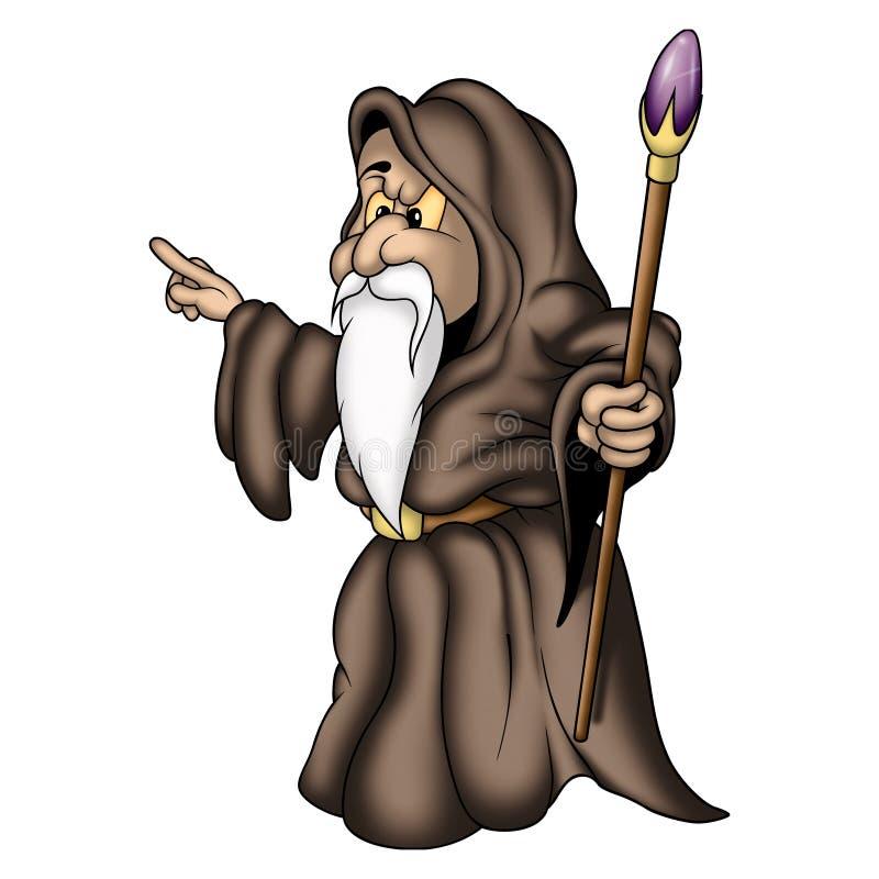 Mágico com orla ilustração do vetor