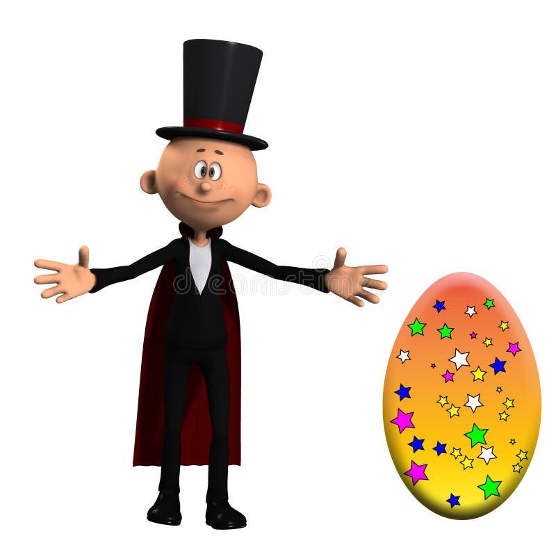 Mágico com um ovo ilustração stock