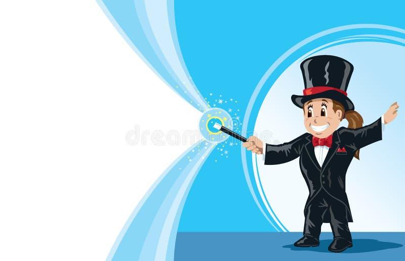 Mágico da menina ilustração royalty free