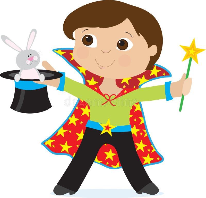 Mágico do menino ilustração do vetor