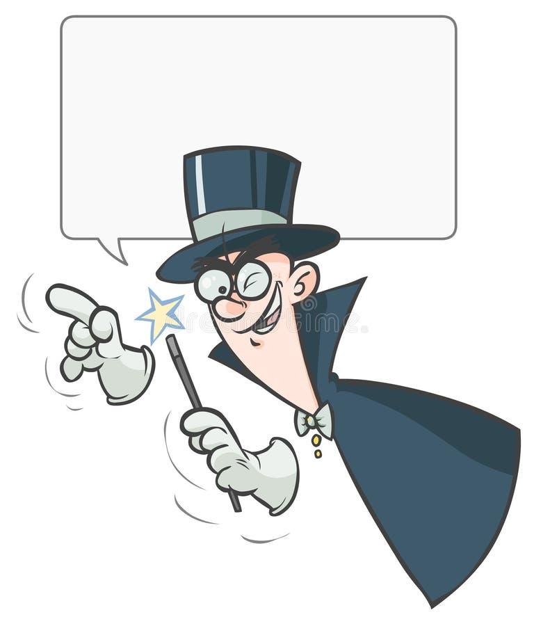 Mágico dos desenhos animados. ilustração do vetor