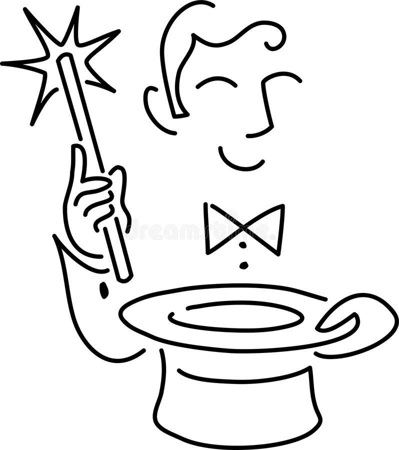 Mágico dos desenhos animados ilustração royalty free