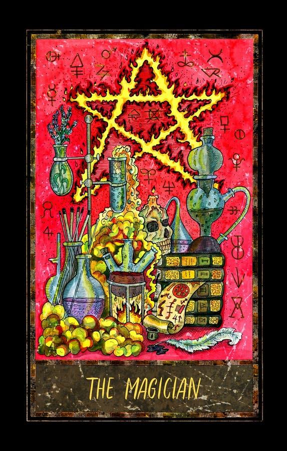 mágico Major Arcana Tarot Card ilustração royalty free