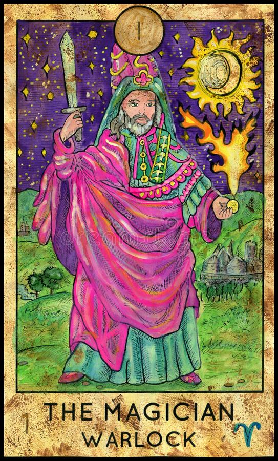 mágico warlock ilustração stock