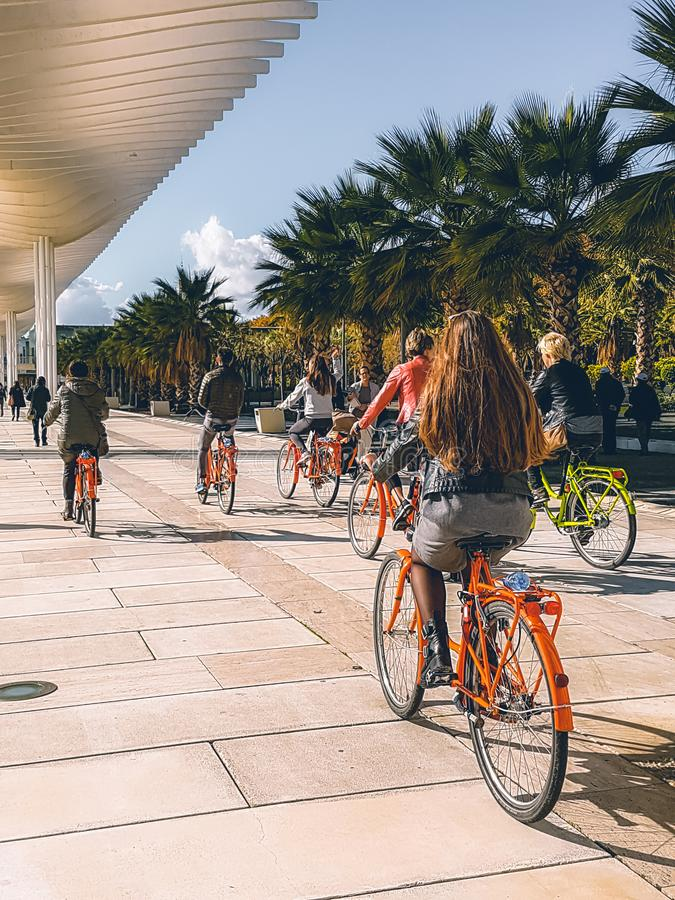 Málaga España tiró durante un studytrip fotografía de archivo libre de regalías