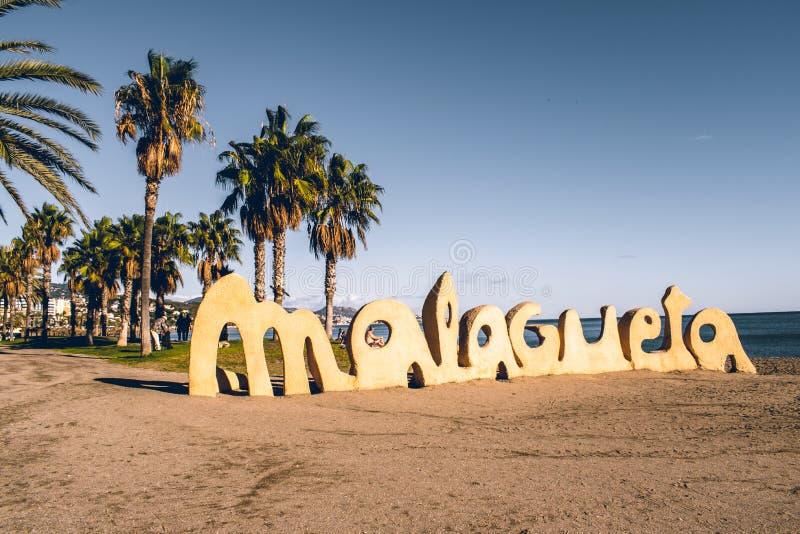 Málaga España tiró durante un studytrip foto de archivo libre de regalías