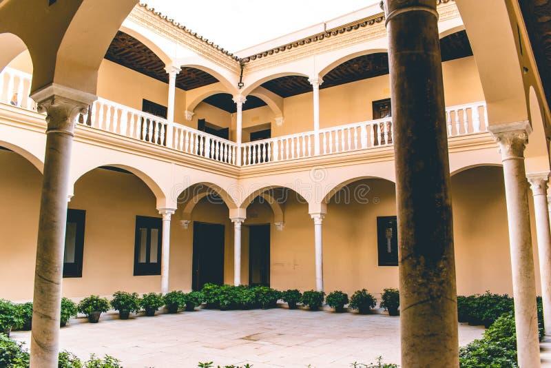 Málaga España tiró durante un studytrip fotos de archivo libres de regalías