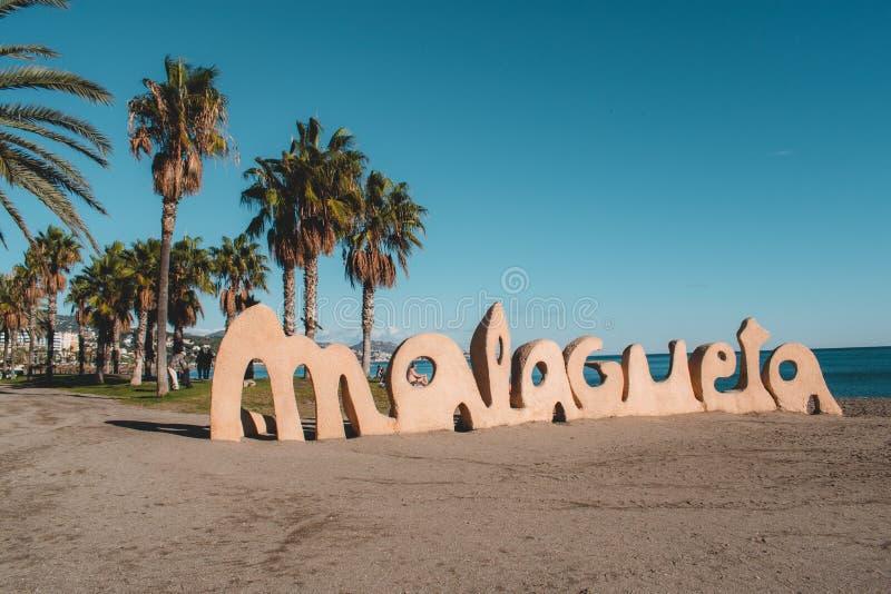 Málaga España tiró durante un studytrip imágenes de archivo libres de regalías