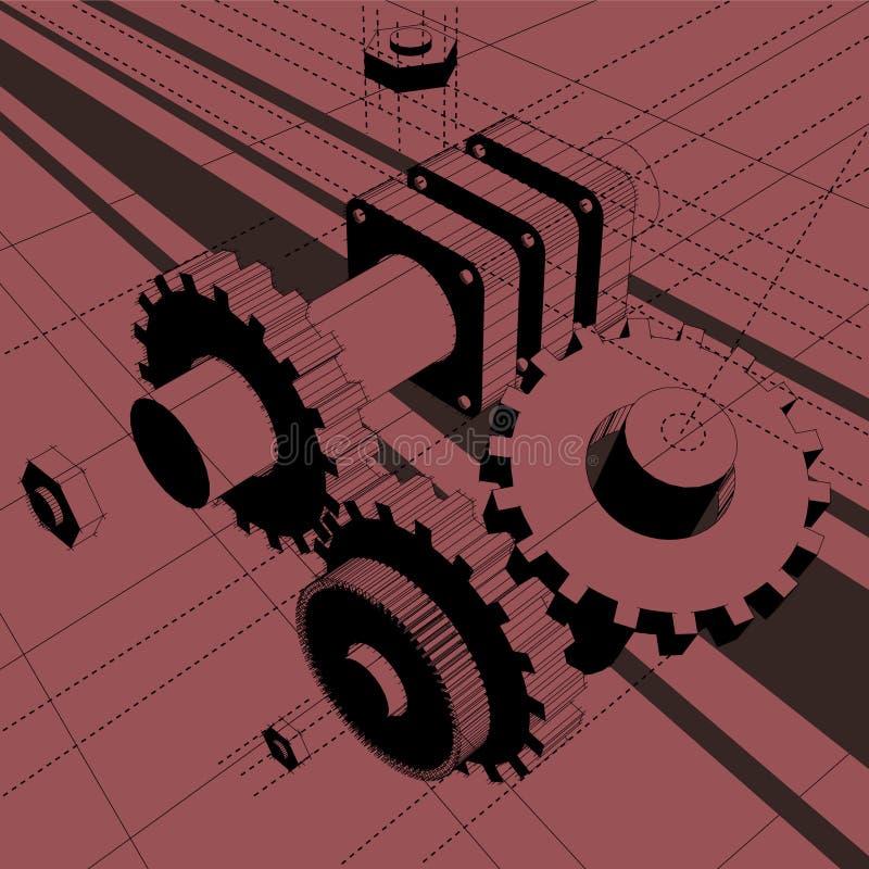 Máquina ilustración del vector