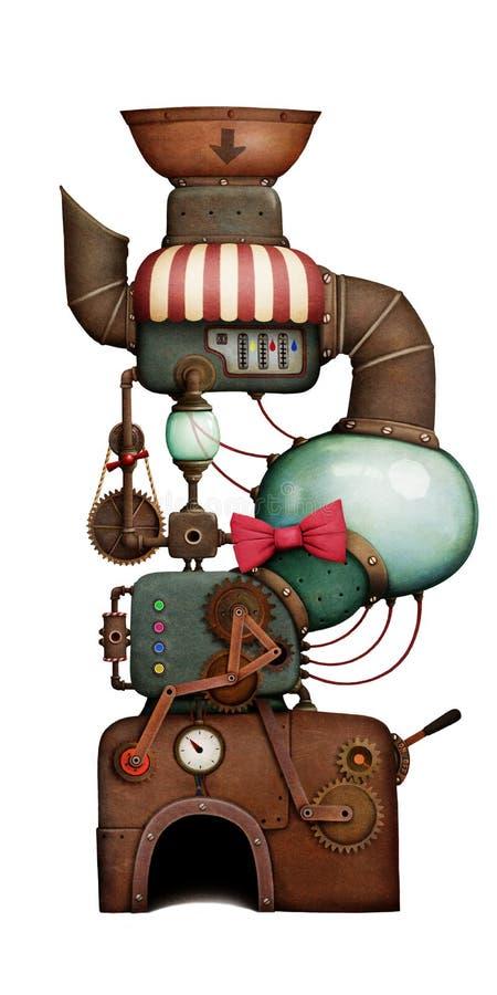 Máquina aislada del día de fiesta stock de ilustración